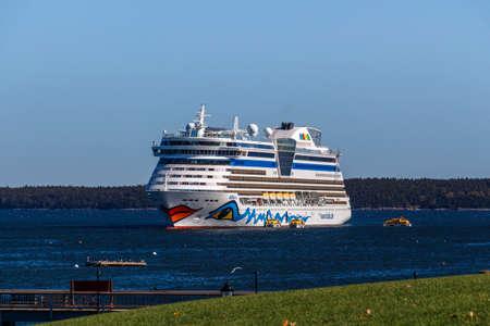 The Cruise Ship AIDA Diva With Its Characteristic Logo Of Lips - Cruise ship bar harbor