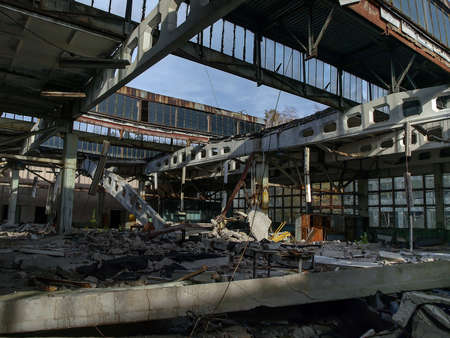 Former Jupiter factory in Pripyat, the ghost town in the Chernobyl Exclusion Zone which was established after the nuclear disaster