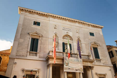 Venice, Italy - November 12, 2016: The Teatro La Fenice is an opera house in Venice and its name refers to the Phoenix Editorial