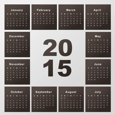 Template Of Calendar For 2015 Royalty Free Cliparts Vectors And