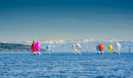 spinnaker: lake constance appears to be a mountain lake.