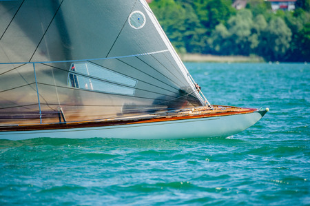 30 sqm racing boats off Friedrichshafen on a bright and quite windy day 写真素材