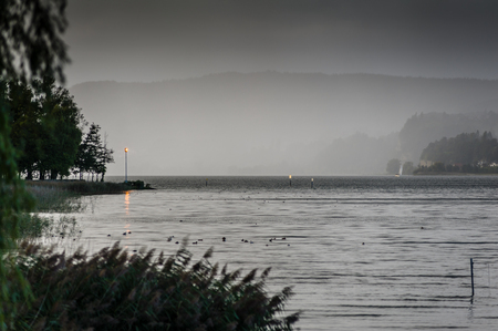 At lake constance there are orange flashlights as bad weather warnings