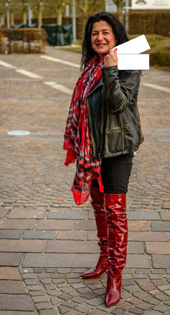 Thigh high boots are an eyecatcher for ladies of all ages Reklamní fotografie