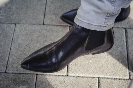 these flat heeled low boots fit perfect to blue jeans.
