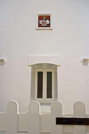 southwold: Entrance to Southwold lighthouse Stock Photo