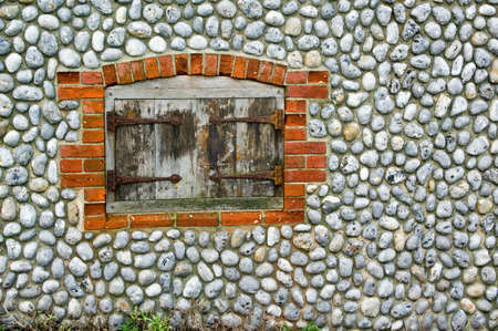 flint: A flint wall and door Stock Photo