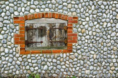 flint: A flint wall and door Stock Photo
