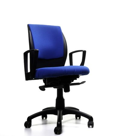 empty blue office chair on isolated background Stock Photo - 4766693