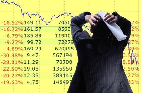 trader: diagram of  global recession