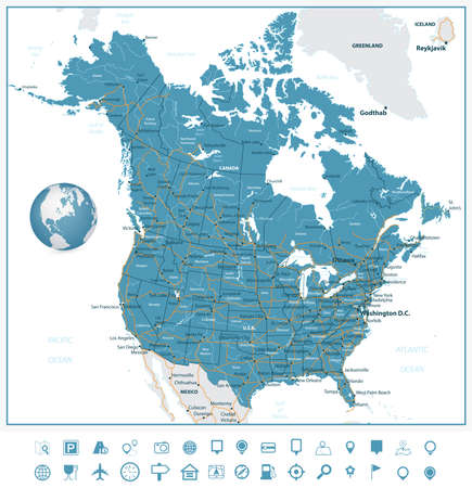 USA And Canada Large Detailed Political Map With States Provinces