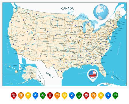 Colorado River Usa Imágenes De Archivo Vectores Colorado River - Mapa de colorado usa