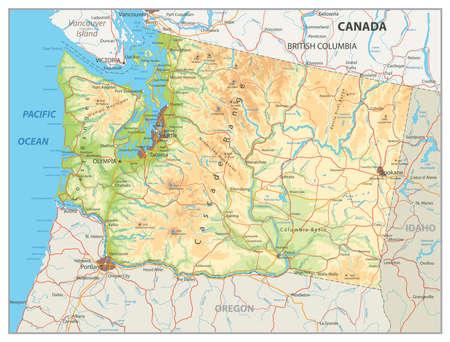 Oregon Coast Stock Vector Illustration And Royalty Free Oregon - Physical map of oregon