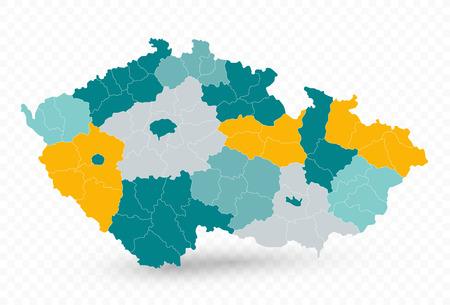 Czech Republic Map on Transparent Background. No text - Vector map illustration.