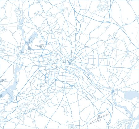 Abstract street map of Berlin on white. Germany. Vector. Illusztráció