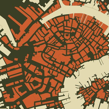 Abstract city map background. Vector illustration. Illusztráció
