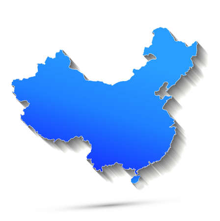 Abstract China map on white background. Vector illustration. Фото со стока - 164204081