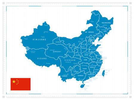 China map. Vector illustration.
