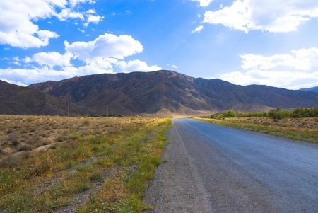 Road to the montains.Turkmenistan. Stock Photo - 8921620