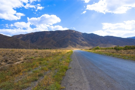 Road to the montains.Turkmenistan. Stock Photo - 8921620