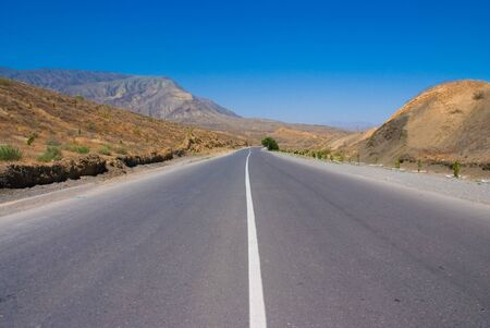 Road to the montains.Turkmenistan. photo