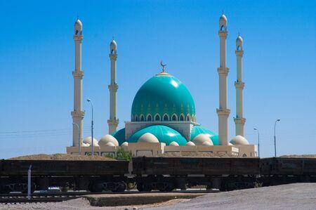 Mosque in Geok Depe. Turkmenistan. Stock Photo