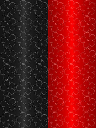 floral abstract red end black background photo