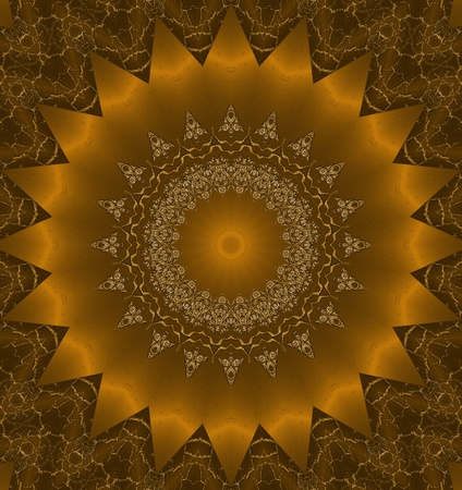 brown round abstract