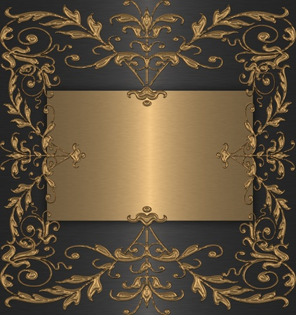 gold with black vintage background photo