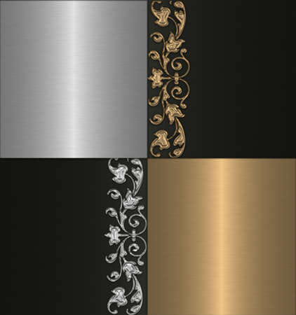 gold silver and black vintage background photo