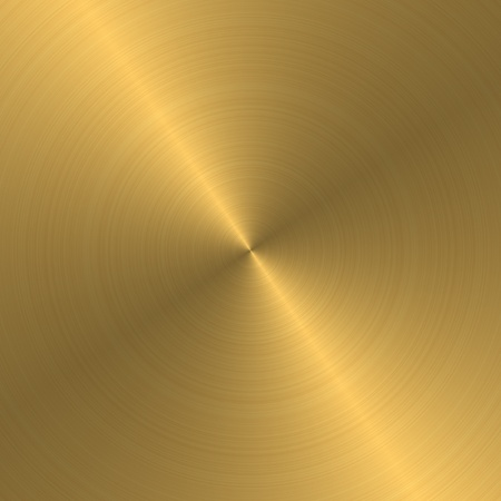 brushed gold: gold metal texture Stock Photo