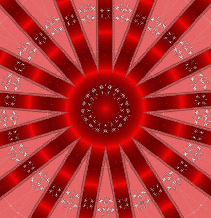 abstract round pattern red background Stock Photo - 9857748
