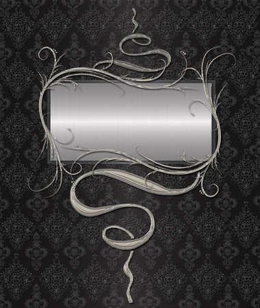 silver end black vintage Stock Photo - 9821307