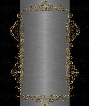 gold end black steel vintage Stock Photo - 9821301