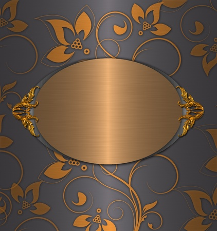 gold with grey vintage abstract Stock Photo - 9821288