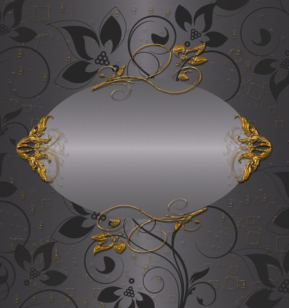 gold with silver floral vintage Stock Photo - 9756488
