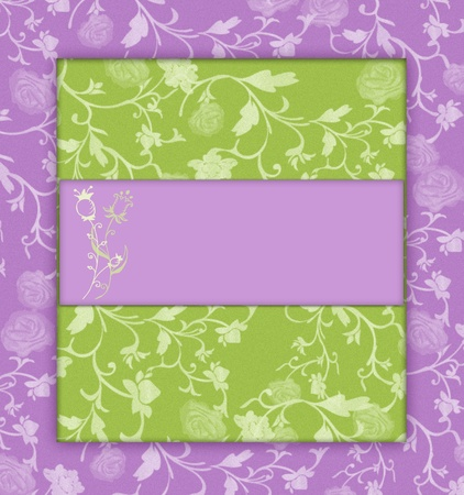 lilac with green floral banner Stock Photo - 9755882