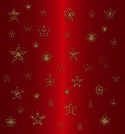 new yea: gold star pattern on the red background