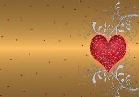 gold valentines photo