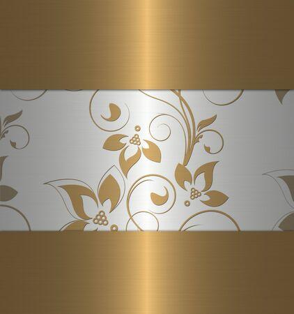 照らす: ゴールドとプラチナのヴィンテージ 写真素材