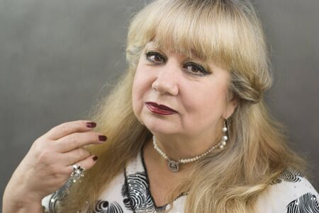 Portrait of a beautiful middle-aged women photo
