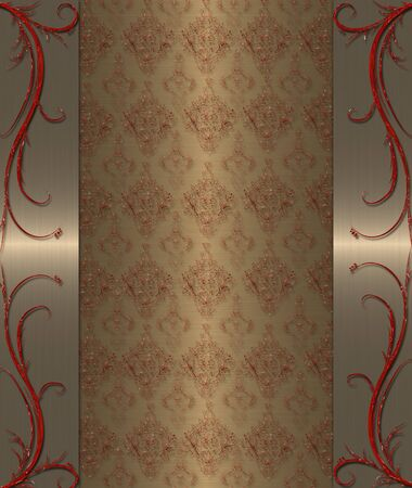gold with red elements vintage banner