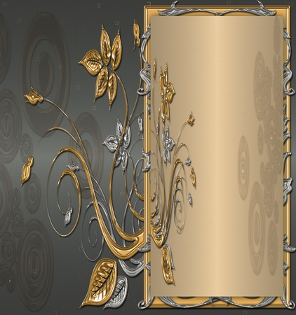 gold with platinum background vintage Stock Photo - 11839321
