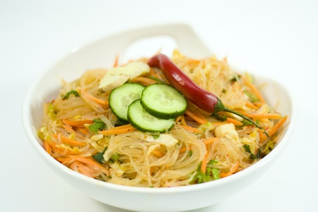 salad of Korean noodle Stock Photo