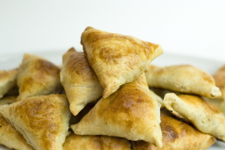 Asian pies with meat, samsa Stock Photo