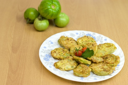 fried green tomatoes battered photo