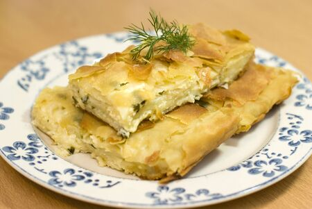Turkish pie with cheese photo