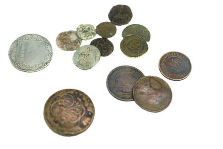 Russian antique copper and silver coins