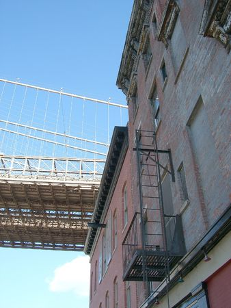 Brooklyn Bridge and Building