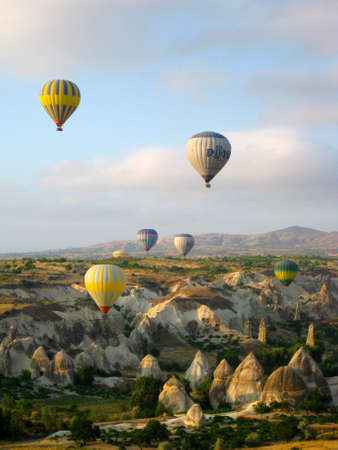 Hot air balloons in Cappadocia Turkey photo